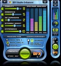 DFX Audio Enhancement Winamp